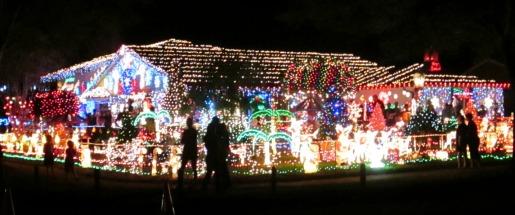 Christmas light display in Orlando, Florida