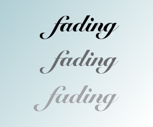 fading words