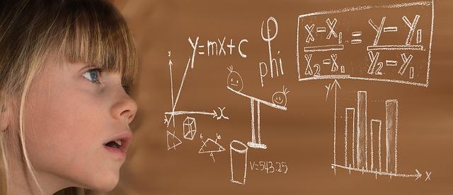 child learning math